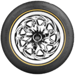 Vogue CBR VII White/Gold Tyre