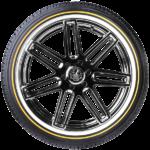Vogue Custom Built SUV White/Gold Tyre
