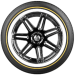 Vogue Custom Built Radial CST White/Gold Tire